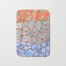 Summer Heat over Refreshing Water Pattern Bath Mat