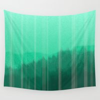 teal Wall Tapestries featuring Teal by Christie Kovalchick