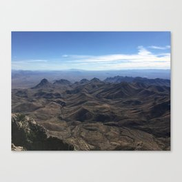 View from South Rim, Big Bend National Park Canvas Print
