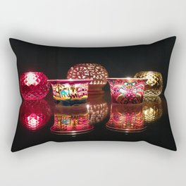 Kaleidoscope of Diwali Lights glowing in the dark Rectangular Pillow