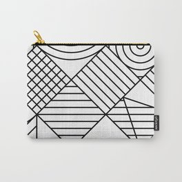 Whackadoodle White and black Carry-All Pouch