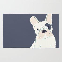 Cute French Bulldog (White w/ Spot) Rug
