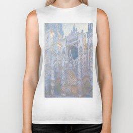 Rouen Cathedral, West Façade by Claude Monet Biker Tank