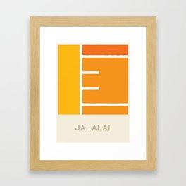 Jai Alai (Sports Surfaces Series, No. 13) Framed Art Print