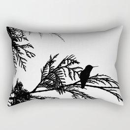 the thoughtful hummingbird Rectangular Pillow