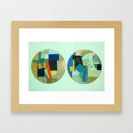Two Circles Framed Art Print
