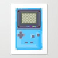 gameboy Canvas Prints featuring Pixel Gameboy by Matt Borchert