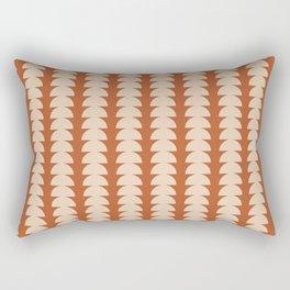 Maude Pattern - Vintage Orange Rectangular Pillow