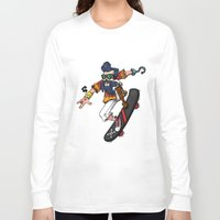 captain hook Long Sleeve T-shirts featuring Captain Hook  by Redwane