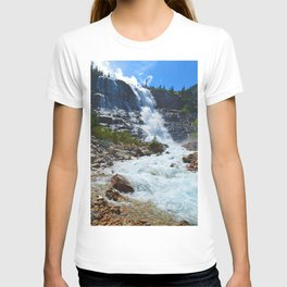 Geraldine Waterfall located in Jasper National Park, Canada T-shirt
