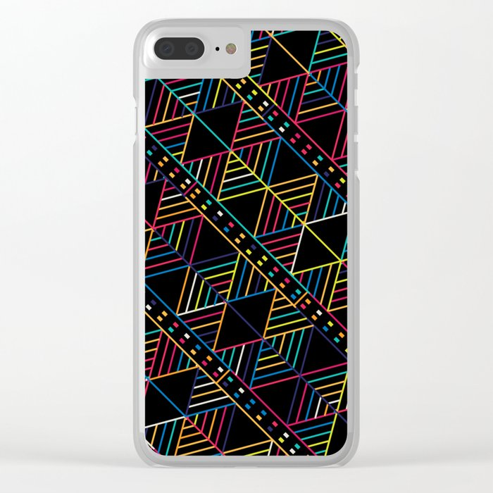 Retro Tribal pattern Clear iPhone Case