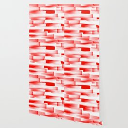 Red and White Abstract Art Wallpaper