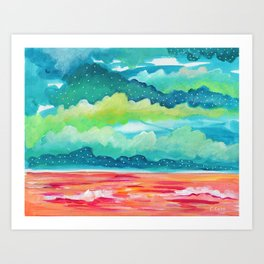 Abstract Seascape IV Art Print