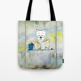 West Highland White Terrier ~ Westie ~ Sophisticated Wally ~ Ginkelmier Tote Bag