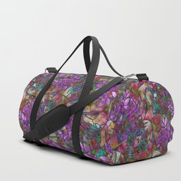 Floral Abstract Stained Glass G175 Duffle Bag