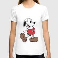 snoopy T-shirts featuring Mickey x Snoopy by Nicholas Hyde
