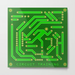 Circuit Training Metal Print