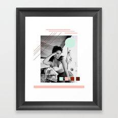 E.T. Collage Framed Art Print