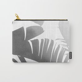 Black and White Tropical Banana Leaves In The Fog Design Carry-All Pouch