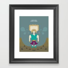 I Fight With Words, Human! Framed Art Print