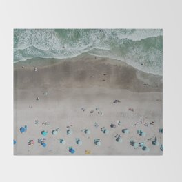 Beach green Throw Blanket