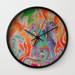 Wings of fire colour full Wall Clock