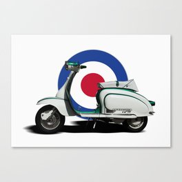 Mod scooter Canvas Print