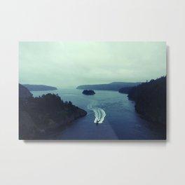 Blue Strait Metal Print
