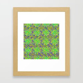 Polyp Green - Coral Reef Series 015 Framed Art Print
