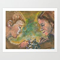 chess Art Prints featuring Chess by Spinning Daydreams