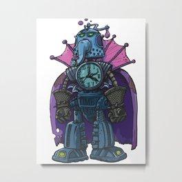 Robot Time Master Metal Print