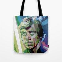 luke hemmings Tote Bags featuring Luke by iankingart