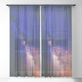 Milky Way Galaxy XIII Sheer Curtain