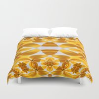 angels Duvet Covers featuring Golden Angels... by Cherie DeBevoise