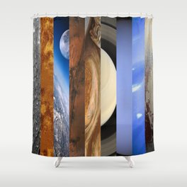 Nine Planets Shower Curtain