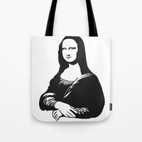 mona lisa Tote Bags featuring Mona Lisa by b & c