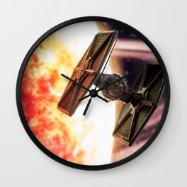 Toy TIE Fighter Wall Clock