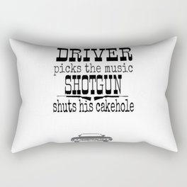 Driver picks music Rectangular Pillow
