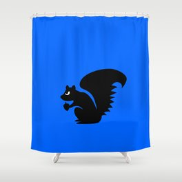 Angry Animals: Squirrel Shower Curtain