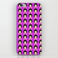 selena gomez iPhone & iPod Skins featuring Selena by Vehement Jane