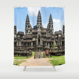 Angkor Wat East Entrance, Cambodia Shower Curtain
