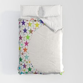 Colorful Cresent Moon Comforters