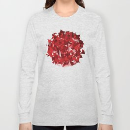 Abstract Red Long Sleeve T-shirt