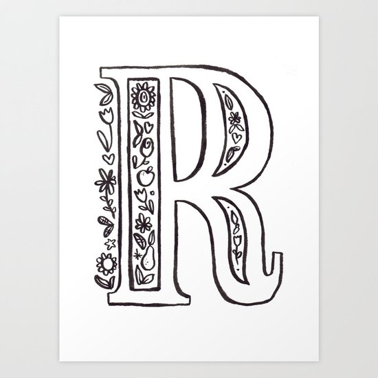 R is for Art Print