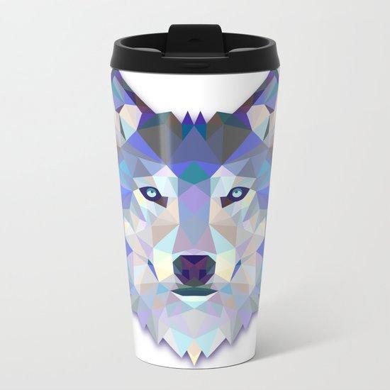 Colorful Wolf Metal Travel Mug