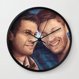 Oh, Cas Wall Clock