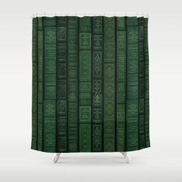 "Extravagant Design Series: Vertical Book Pattern ""Bookbag"" Shower Curtain"