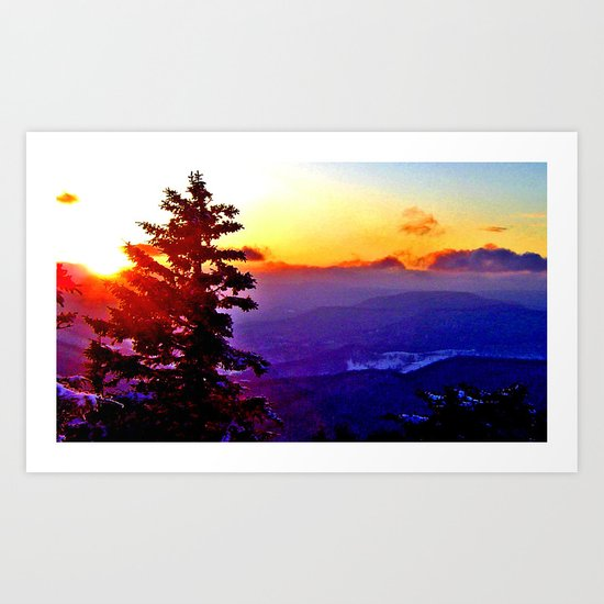 snowshoe sunrise Art Print