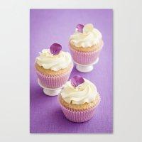cupcakes Canvas Prints featuring Cupcakes by Elisabeth Coelfen