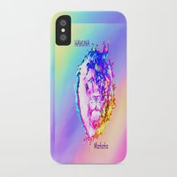 hakuna iPhone & iPod Cases featuring Hakuna Matata by Laura Santeler